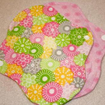 Two, 7 inch Washable Leak Proof Menstrual Pads CHOOSE YOUR PRINT