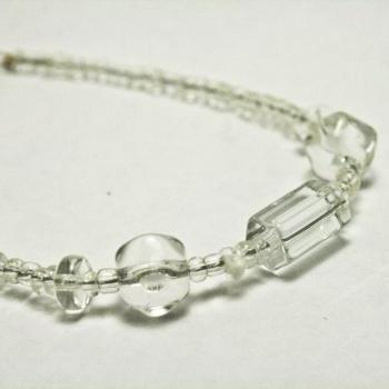 CLEARANCE Clear Glass Bracelet